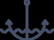 海軍アンカー水中