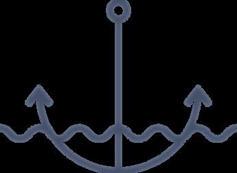 Navy anchor underwater