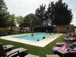 la piscine privée chauffée