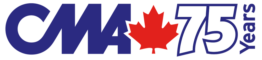 Canadian Motorcycle Association 75th anniversary logo