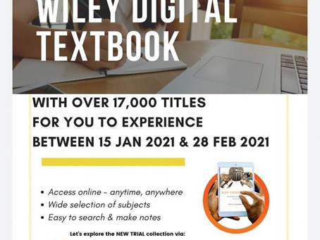 Trial Online Database: Wiley Digital Textbook