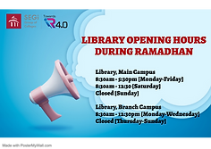 Library Opening Hours during Ramadhan.pn