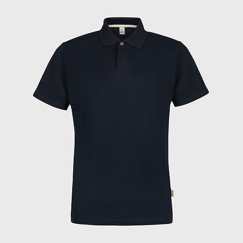 Cotton pique polo shirt in Navy