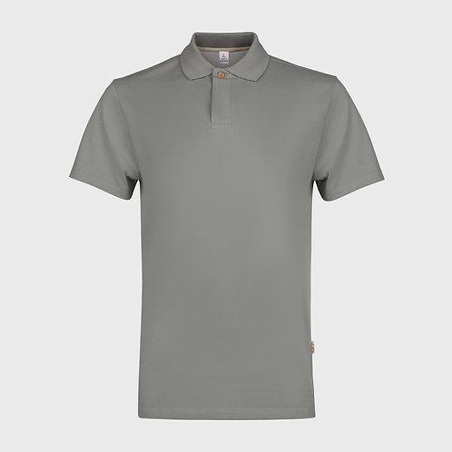 Cotton pique polo shirt in Stone