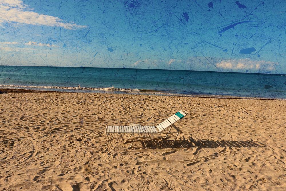 save my seat on the beach...