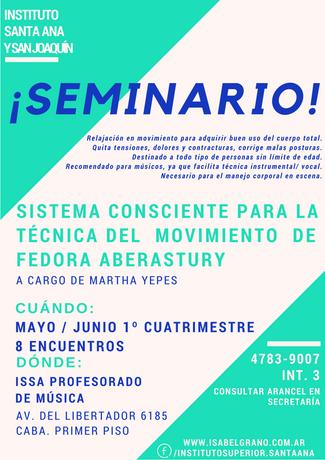 """Sistema consciente para la técnica del movimiento de Fedora Aberastury"""" a cargo de Martha Yepes"""
