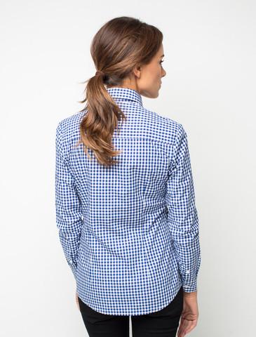 рубашка в синий клетку