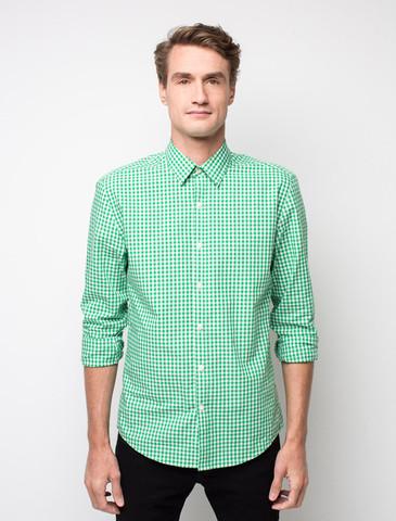 рубашка в зеленую клетку