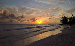 Sunset from Rockley Beach