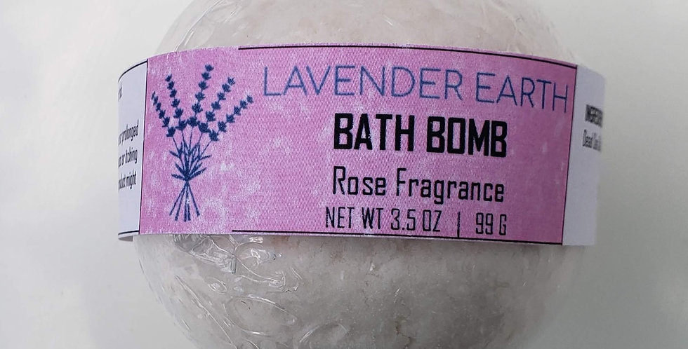 Bath Bomb (Rose Fragrance)