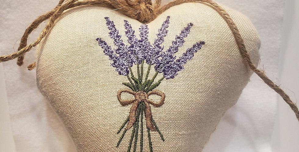 Handmade Heart Shaped Lavender Pillow Sachet