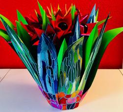 tulpobject met geschilderde tulpen tulpe