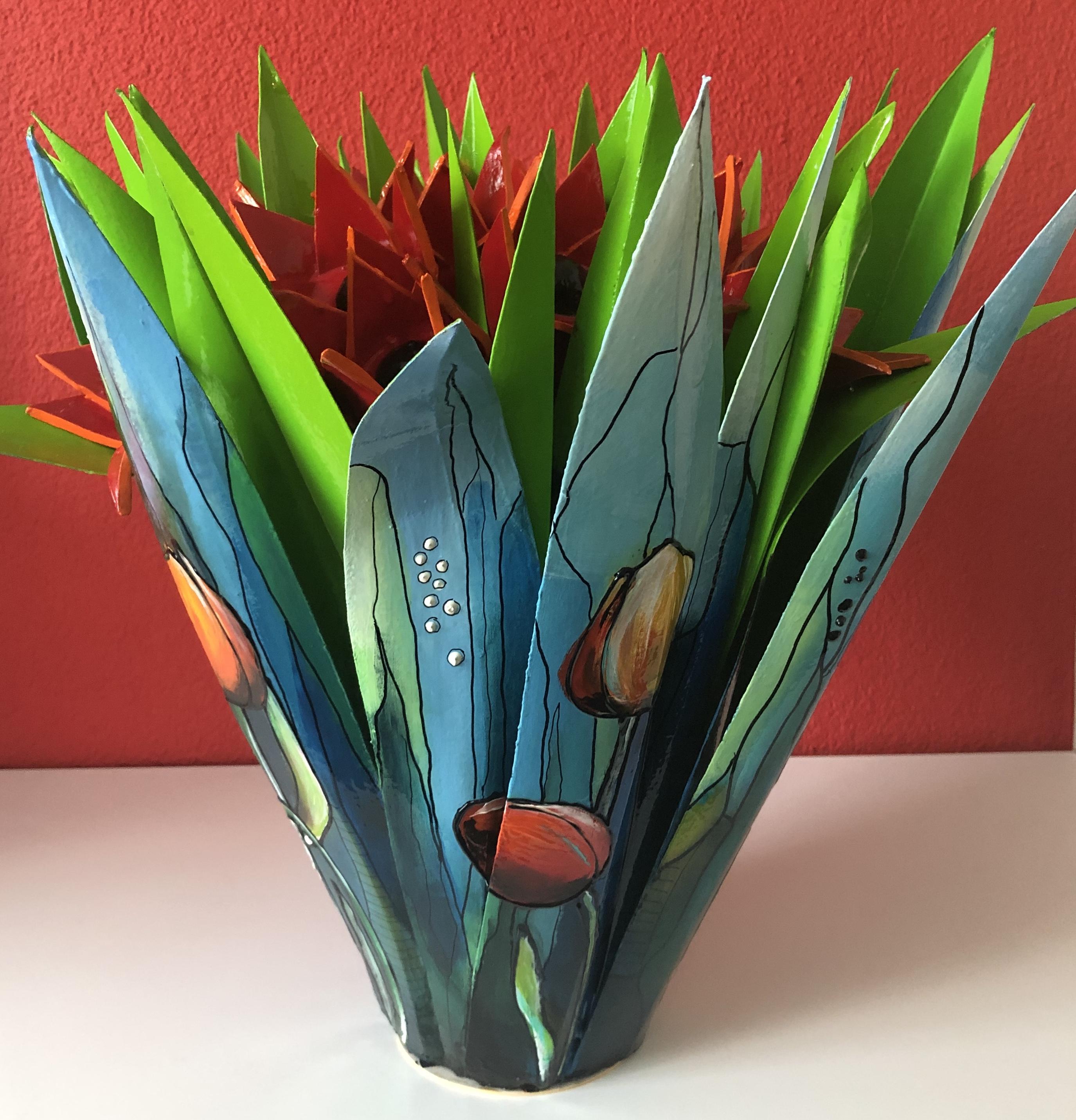 nieuw tulpobject met 13 klei tulpen, sep
