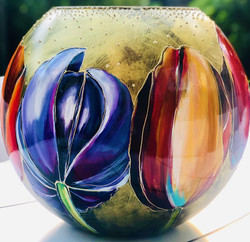 vaas met tulpen2, aug. 2019