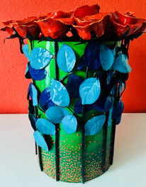 rozenobject met 19 rode rozen en licht-d