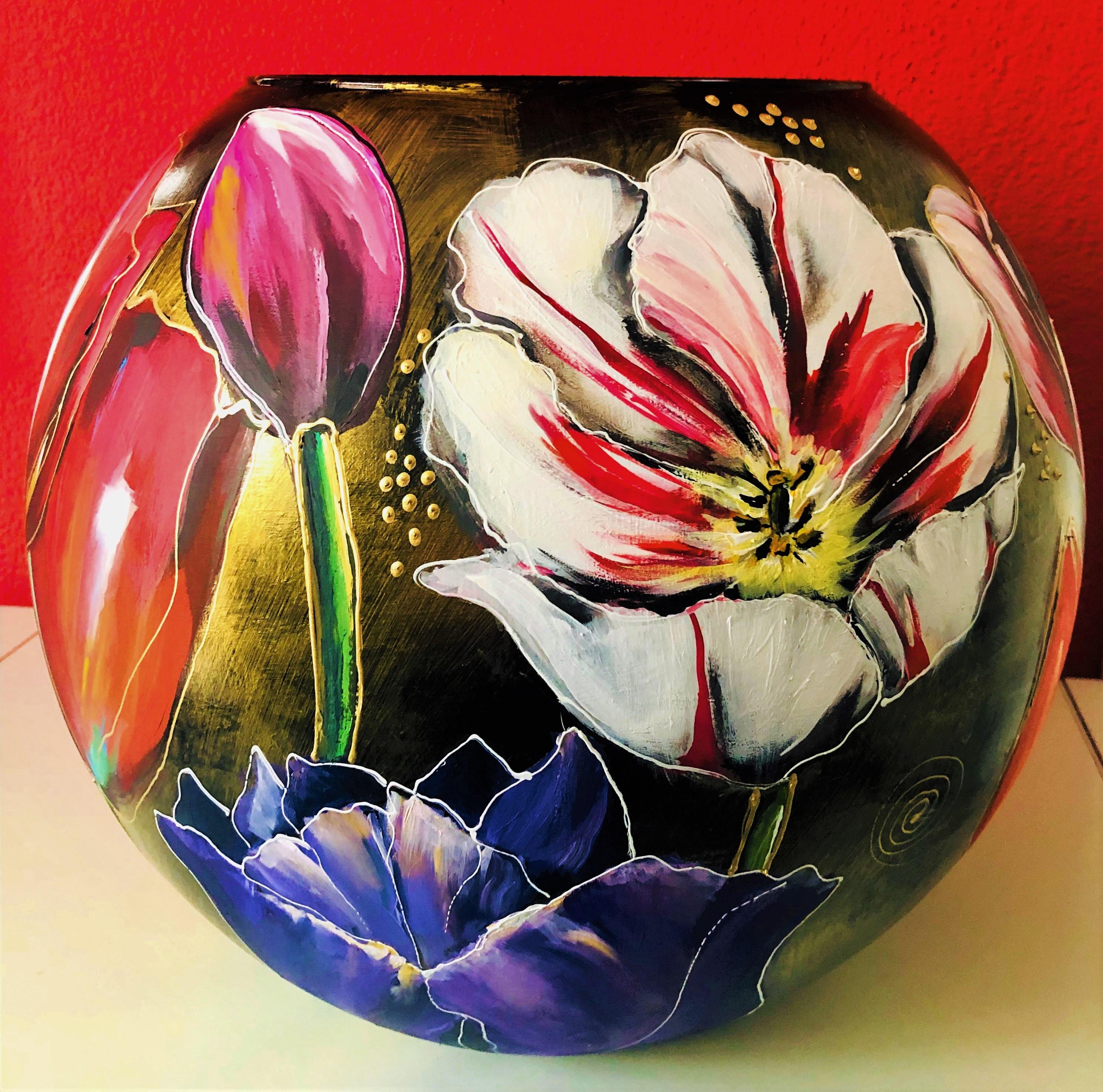 bolvaas met bloemen maart 2019