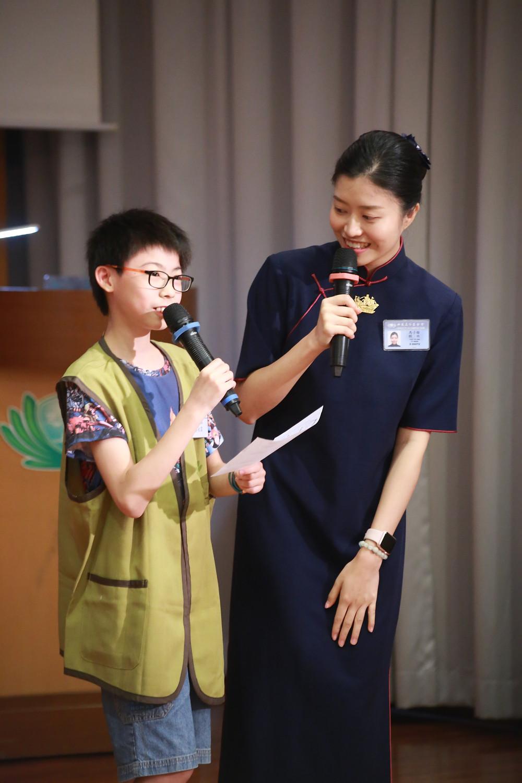 12 歲的蔡永霖分享「竹筒歲月」的故事                     讓他聯想到團結的力量 攝影 / 林碧珊