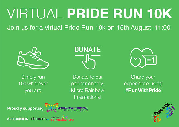 Virtual Pride Run 10K Postcards 2 - Gree