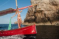 alquiler barcos en menorca, llaut menorquin en Fornells