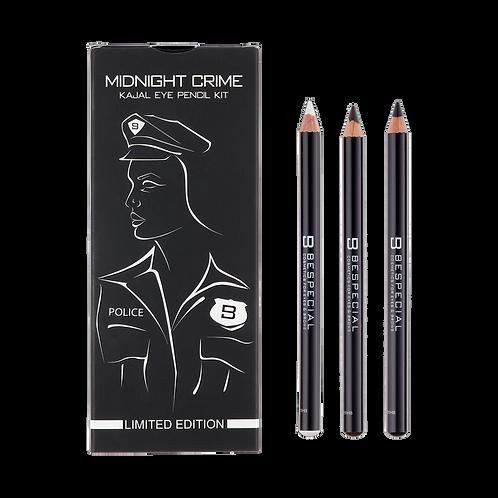 Набор стойких карандашей-каялов для глаз Midnight Crime Bespecial (3 цвета)
