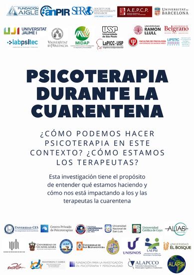 ESTUDIO: PSICOTERAPIA DURANTE LA CUARENTENA
