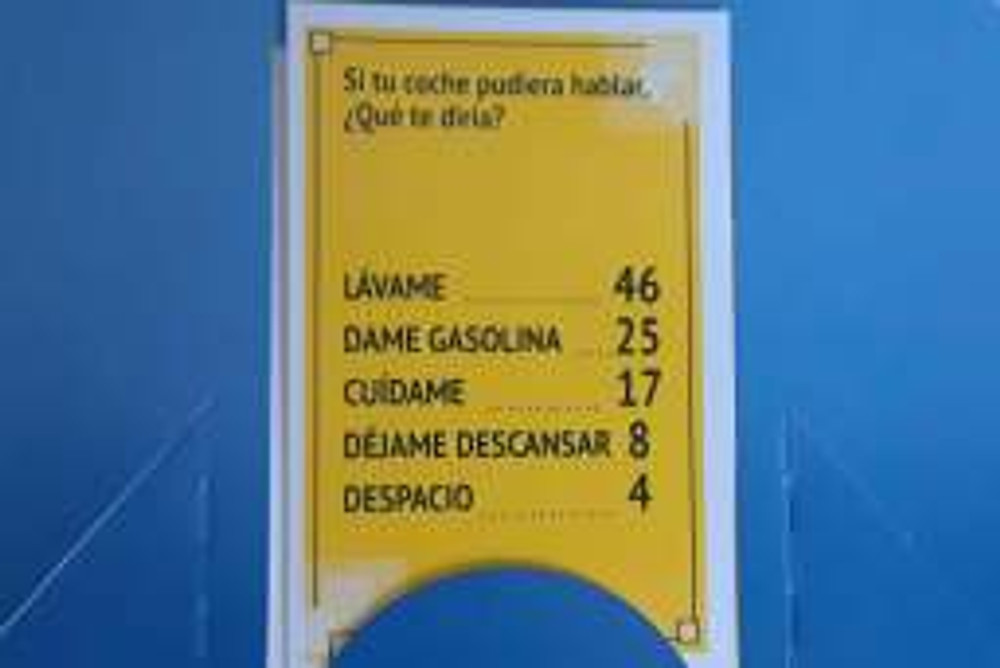 To set up the game is pretty simple. First, you need to have a list of question with 5 answers. (I have 100 question cards because I bought the Mexican version at my local convenience store here in Veracruz. You can purchase it on Amazon here.)