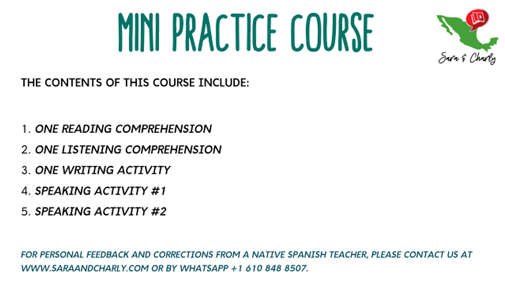 Free DELE exam A1 Spanish courses online take classes with sara and charly learn spanish