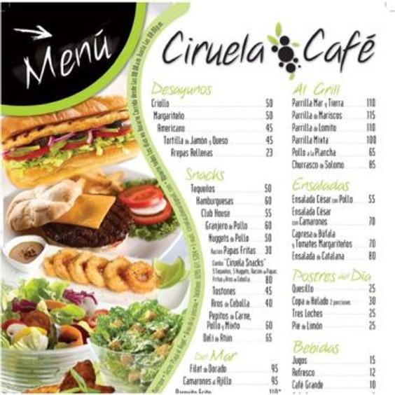 Restaurant Menu from Pinterest in Spanish.