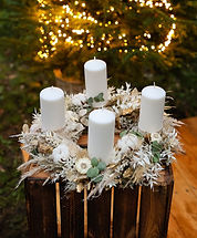 Adventskranz Trockenblumen