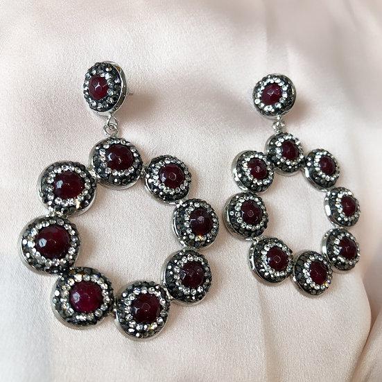 Riviera Earrings - Berry