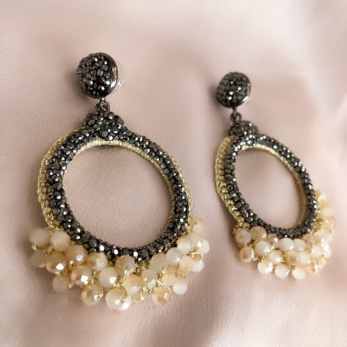 Antibes Earrings - Nude