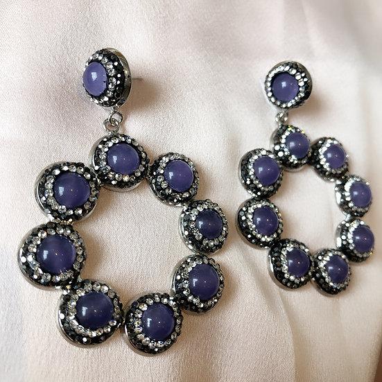 Riviera Earrings - Lavender Field