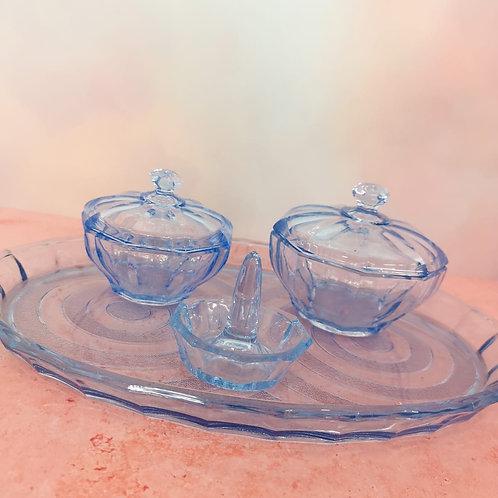 Cobalt Blue Dressing Table Set