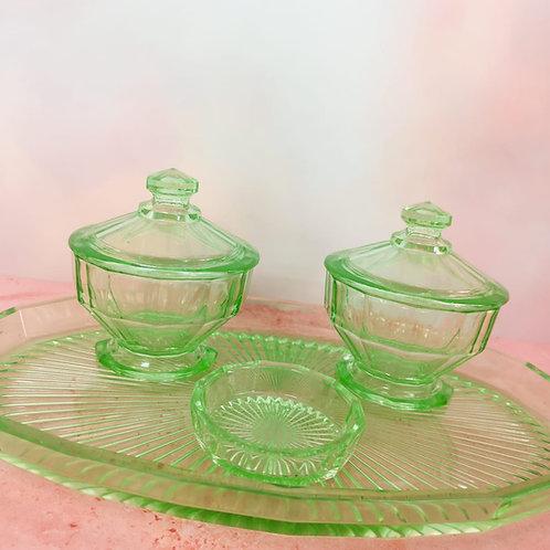 Apple Green Swirl Dressing Table Set