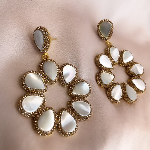 Cannes Earrings - Gold with Shell