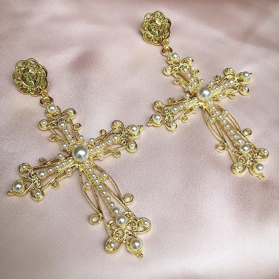 Vatican Cross Earrings