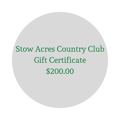 $200 Gift Certificate for Green Fees & Merchandise
