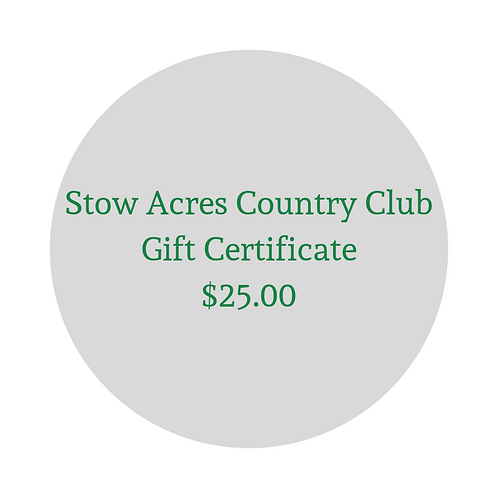 $25 Gift Certificate for Green Fees & Merchandise