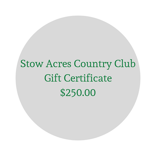 $250 Gift Certificate for Green Fees & Merchandise