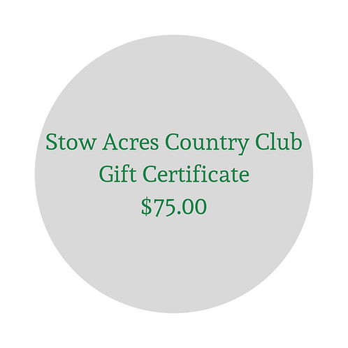 $75 Gift Certificate for Green Fees & Merchandise