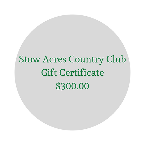 $300 Gift Certificate for Green Fees & Merchandise