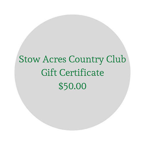 $50 Gift Certificate for Green Fees & Merchandise