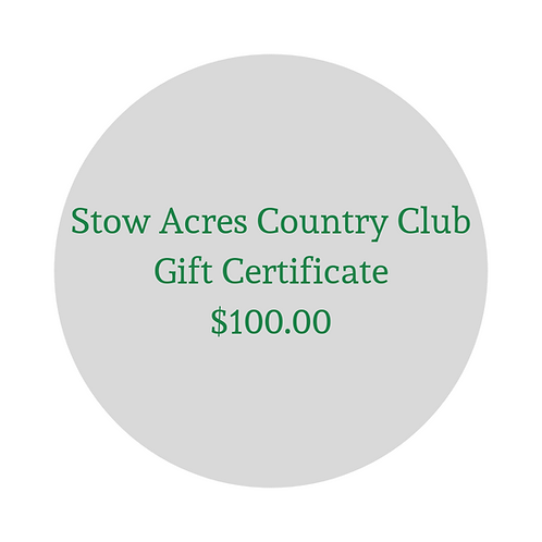 $100 Gift Certificate for Green Fees & Merchandise