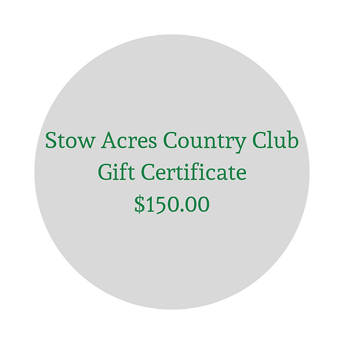 $150 Gift Certificate for Green Fees & Merchandise