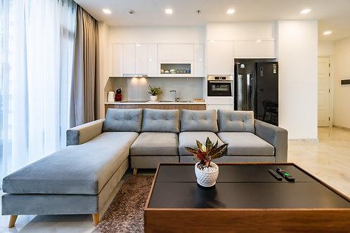 L-Shape sofa, light blue