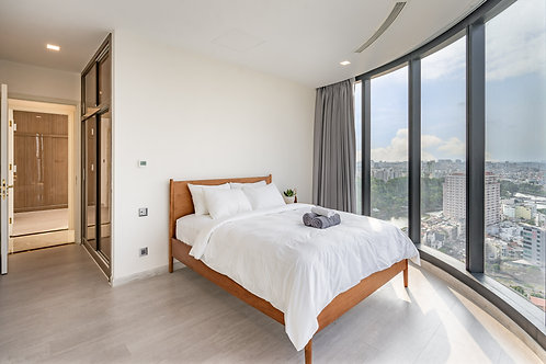 Giường Mid Century Tặng kèm Nệm  - Queen size