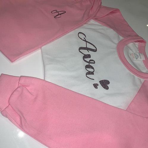 Girls Personalised Crafter Cotton PJ Set