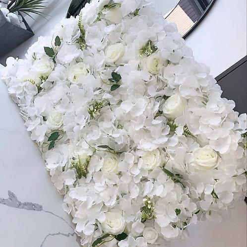 White Greenery Flower Board