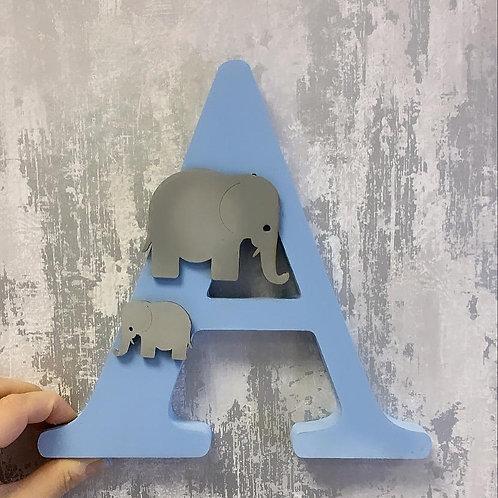 Boy Single Letter Elephant