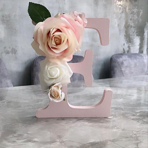 Pink Fee standing Letter
